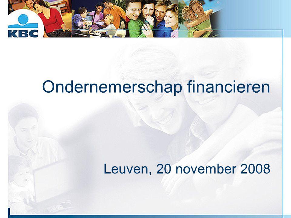 Ondernemerschap financieren Leuven, 20 november 2008