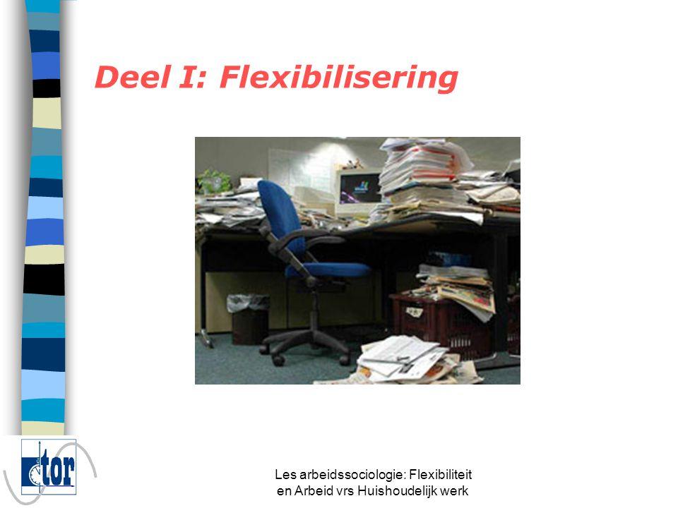 Les arbeidssociologie: Flexibiliteit en Arbeid vrs Huishoudelijk werk n Soevereiniteit n Zeggenschap ligt bij de werknemer = zelfbeschikking of autonomie n A.d.h.v.