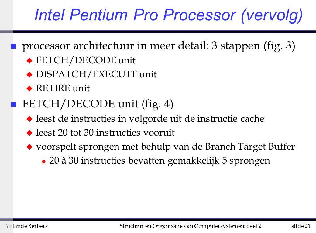 slide 21Structuur en Organisatie van Computersystemen: deel 2Yolande Berbers n processor architectuur in meer detail: 3 stappen (fig.