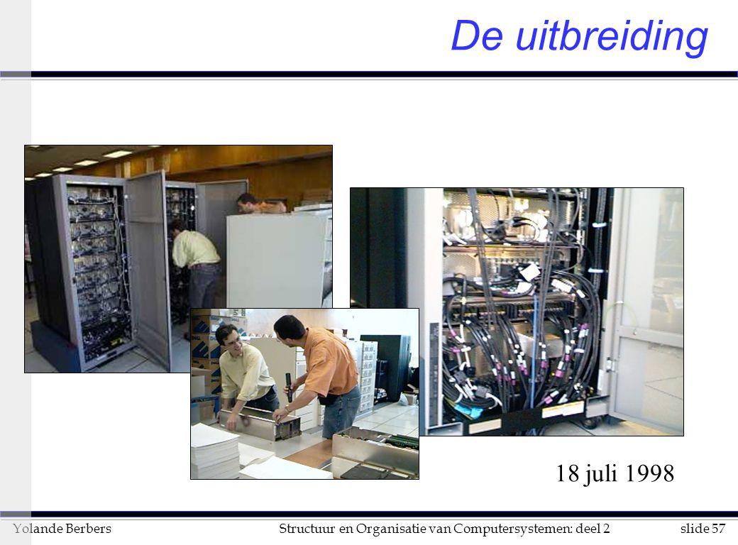 slide 57Structuur en Organisatie van Computersystemen: deel 2Yolande Berbers De uitbreiding 18 juli 1998