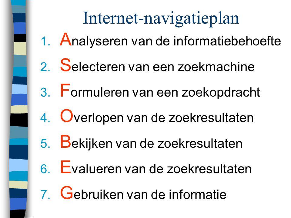 Evalueren van informatie n Kwaliteit: opgepast! n Kwaliteitscriteria: