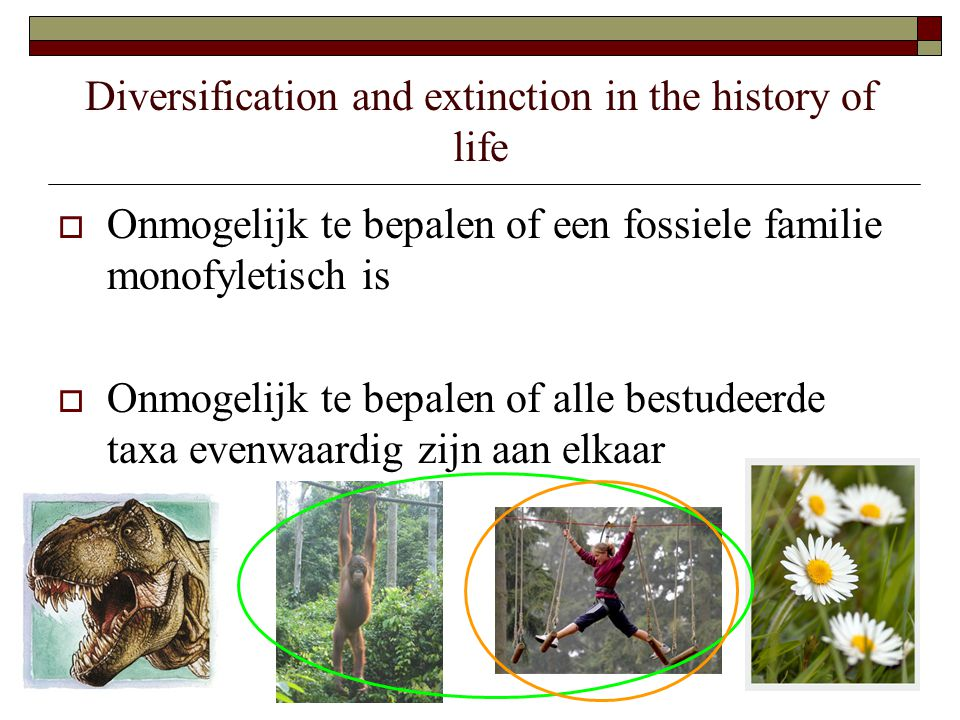 Diversification and extinction in the history of life  Hoe gebeurt deze indeling dan.