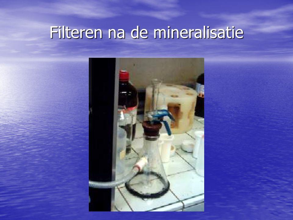 Filteren na de mineralisatie