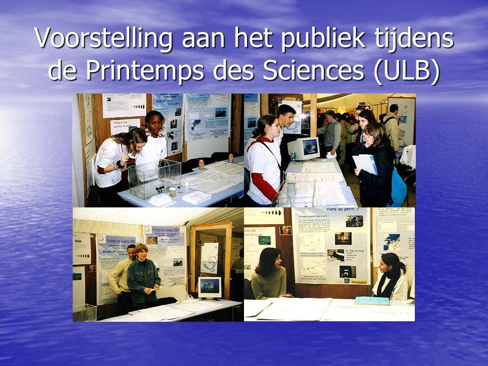Voorstelling aan het publiek tijdens de Printemps des Sciences (ULB)