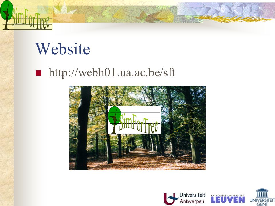 Website http://webh01.ua.ac.be/sft