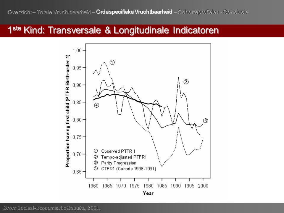 1 ste Kind: Transversale & Longitudinale Indicatoren Bron: Sociaal-Economische Enquête, 2001.