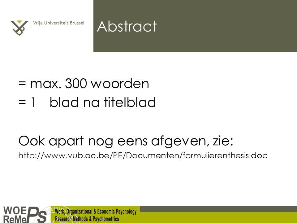 Abstract = max.
