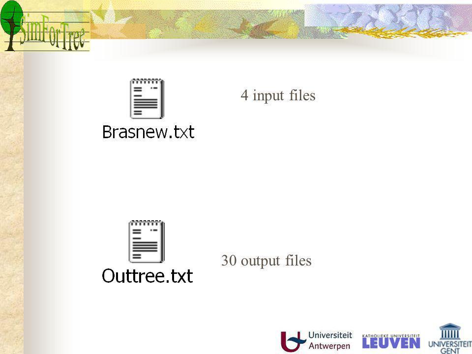 4 input files 30 output files