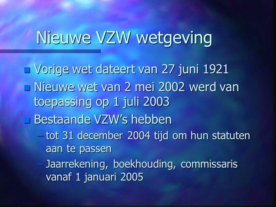 Openbaarmaking n Openbaarmaking –Vroeger: publicatie in bijlagen van het Belgisch Staatsblad –Sinds 1 juli 2003: Openbaarmaking in twee geledingen.