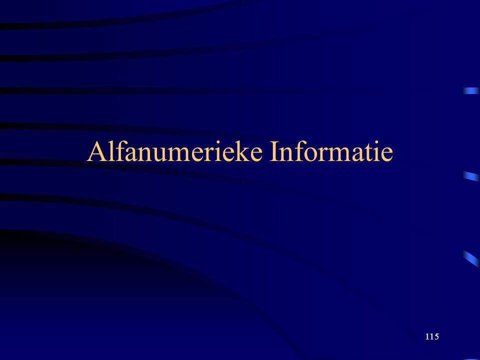 115 Alfanumerieke Informatie