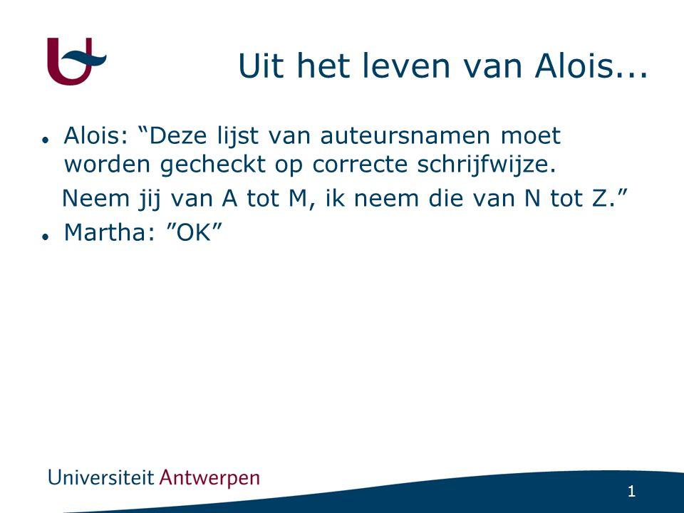 1 Uit het leven van Alois...