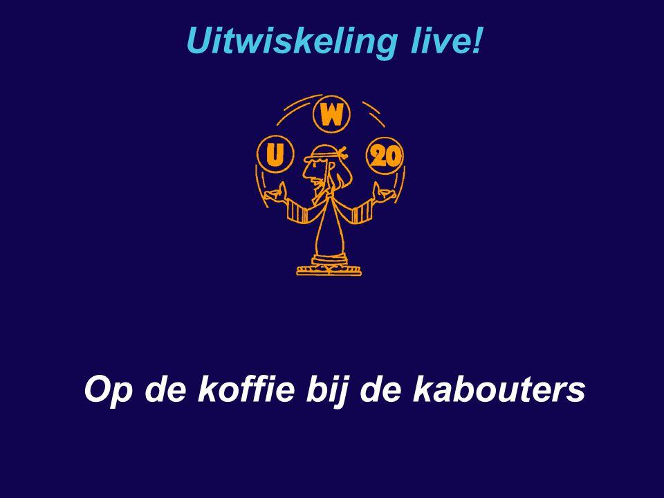 Op de koffie bij de kabouters Uitwiskeling live.20 november 2004 Waarom (niet) abstract werken.