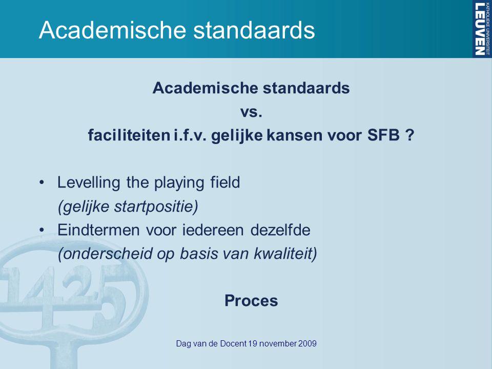 Dag van de Docent 19 november 2009 Uitgangspunten nota Onderwijs & Diversiteit 1.Iedereen die voldoet aan de algemene toelatingsvoorwaarden, heeft recht op een universitaire vorming.