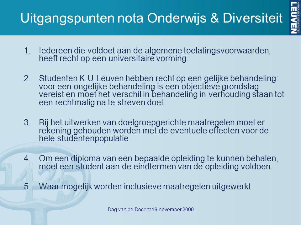 Dag van de Docent 19 november 2009 OER – Gelijke behandeling Afdeling 6.