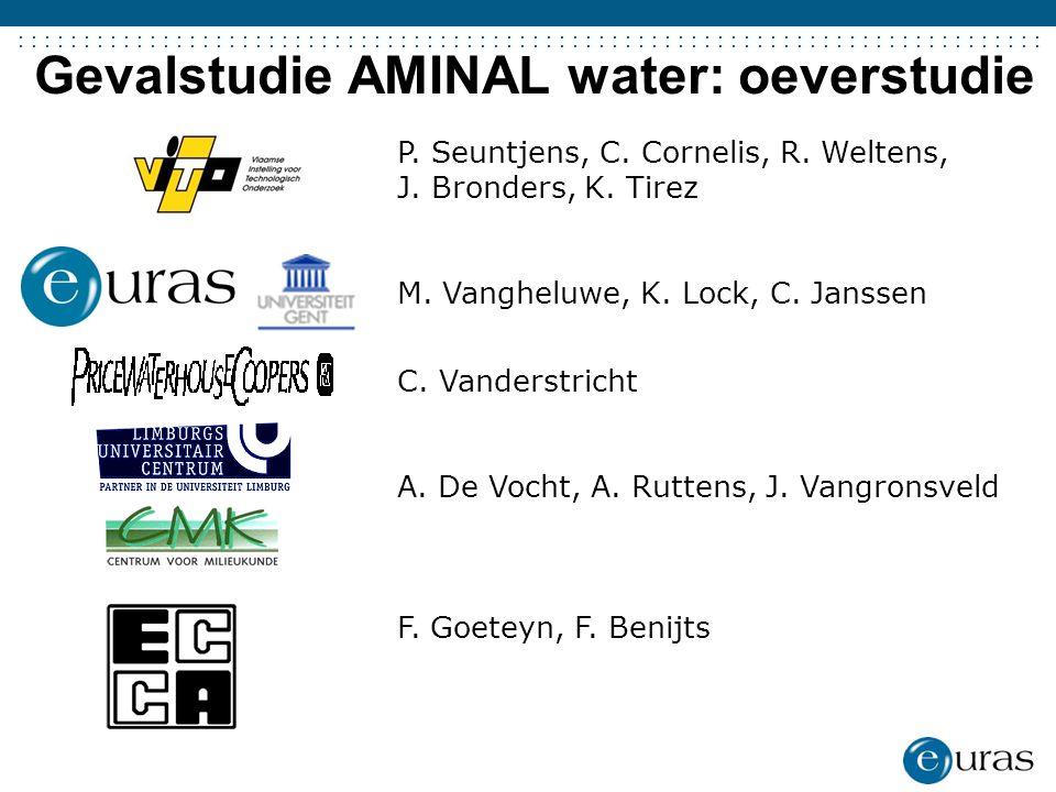 ....................................... Gevalstudie AMINAL water: oeverstudie P. Seuntjens, C. Cornelis, R. Weltens, J. Bronders, K. Tirez M. Vanghelu
