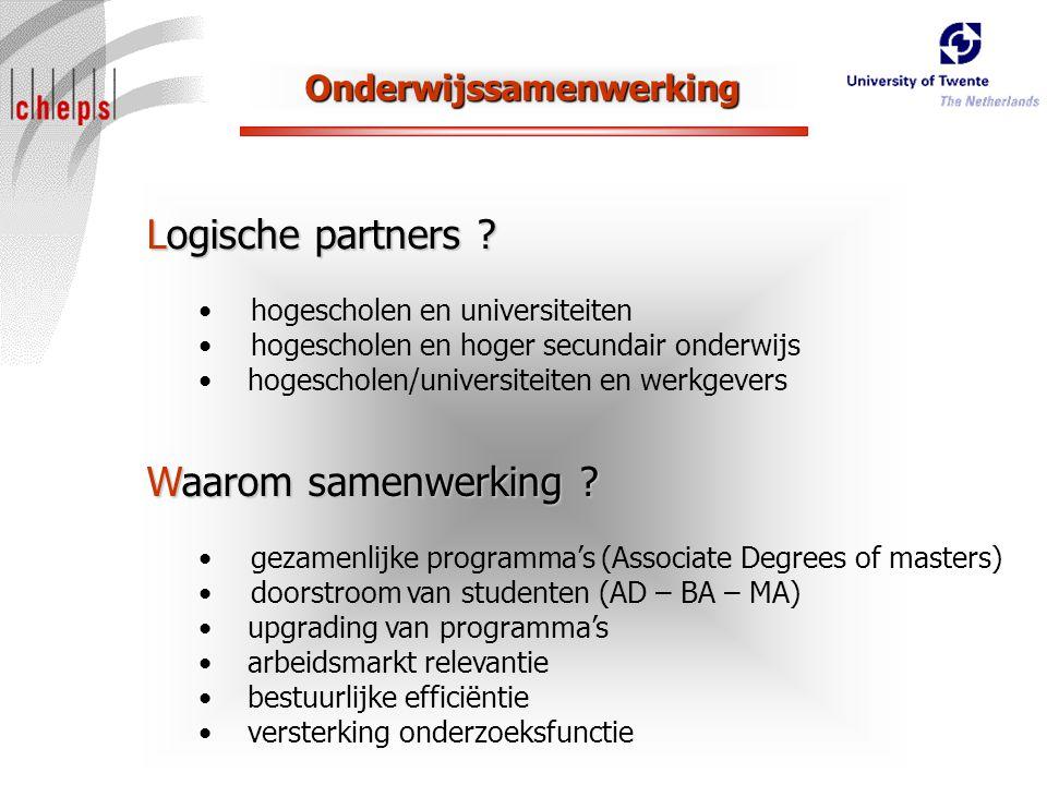 Onderwijssamenwerking Logische partners .