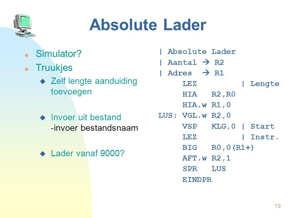 20 Absolute Lader Simulator.