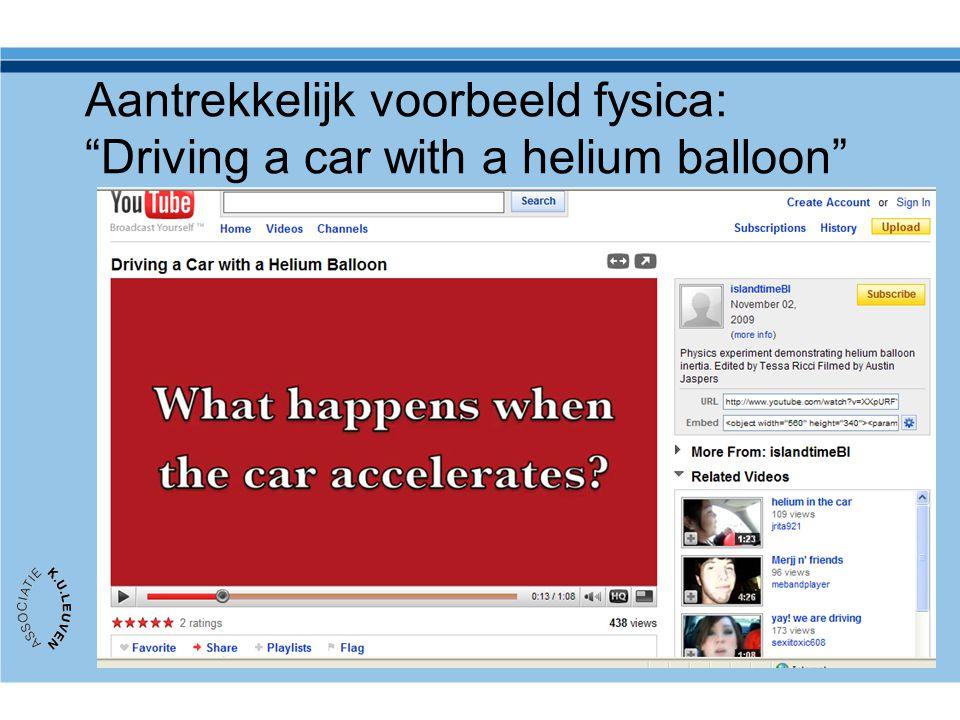 """Aantrekkelijk voorbeeld fysica: """"Driving a car with a helium balloon"""""""