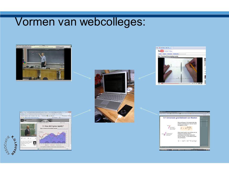 Vormen van webcolleges: