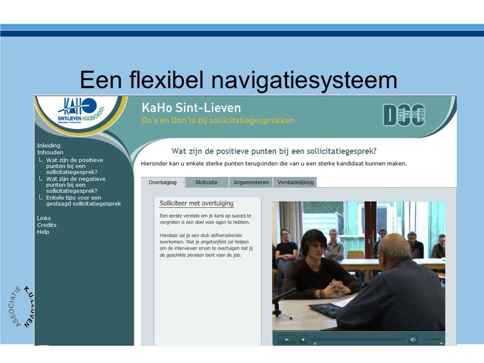 Een flexibel navigatiesysteem