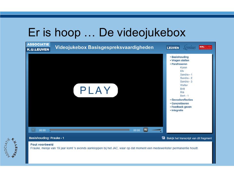 Er is hoop … De videojukebox