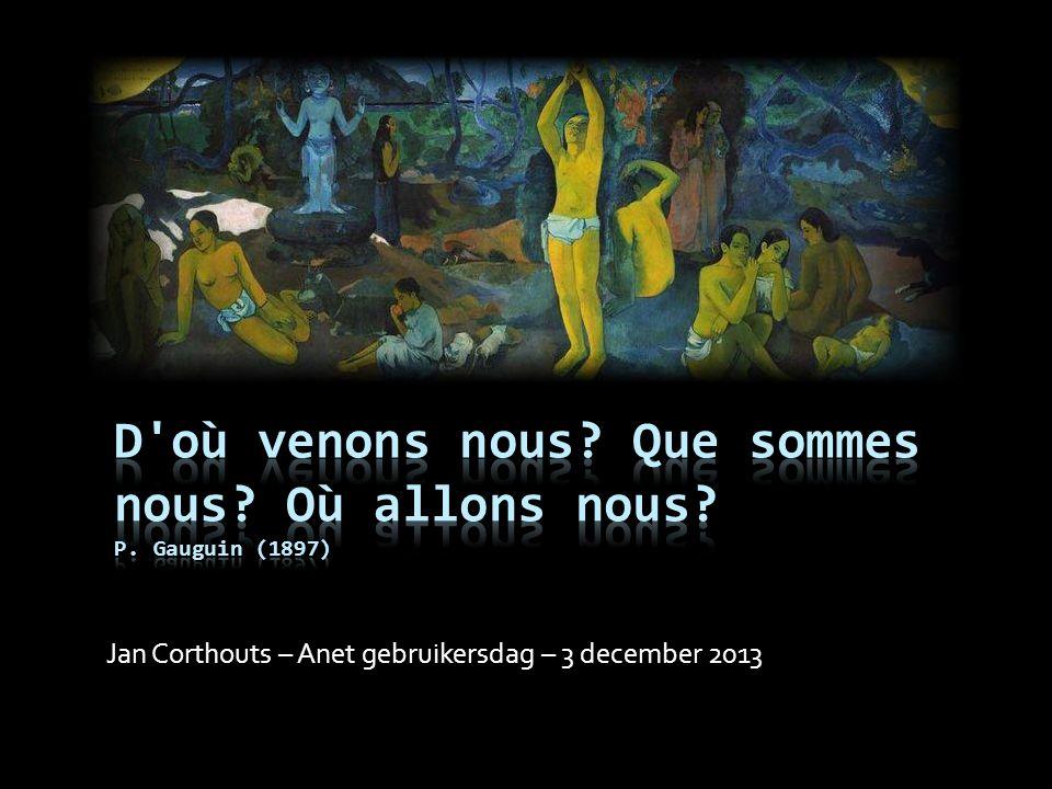 Jan Corthouts – Anet gebruikersdag – 3 december 2013
