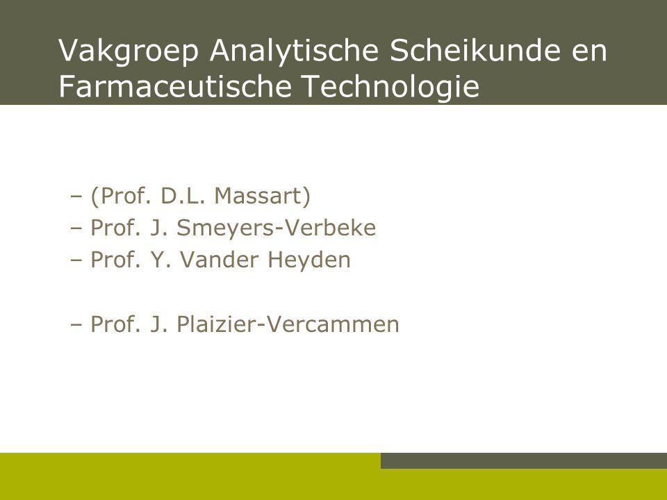 Vakgroep Analytische Scheikunde en Farmaceutische Technologie –(Prof.