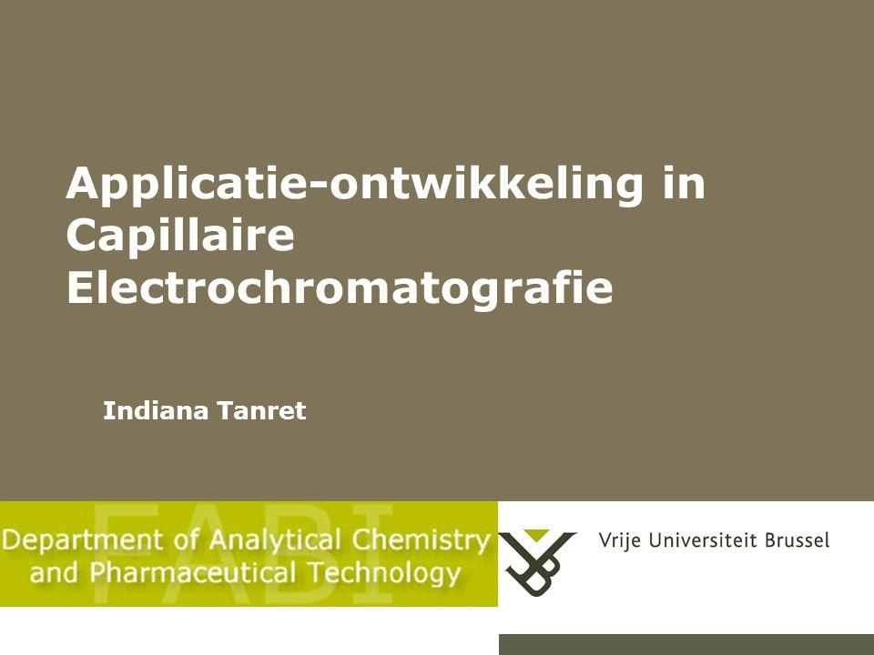 Chromatografische descriptoren als alternatief voor Caco-2 in vitro permeabiliteit schatting van membraanpassage van geneesmiddelen Eric Deconinck