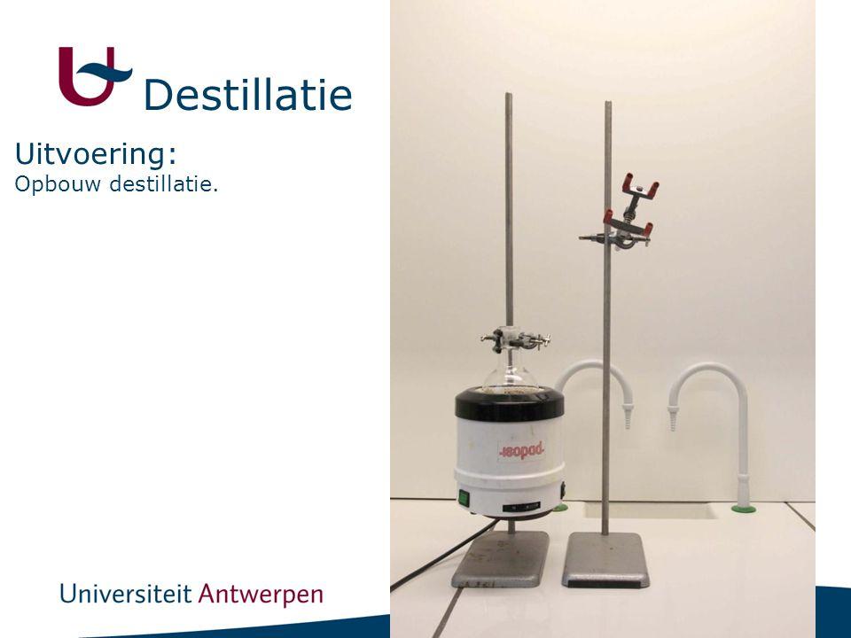 10 Opbouw destillatie. Uitvoering: Destillatie