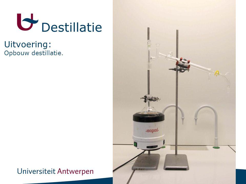 11 Opbouw destillatie. Uitvoering: Destillatie