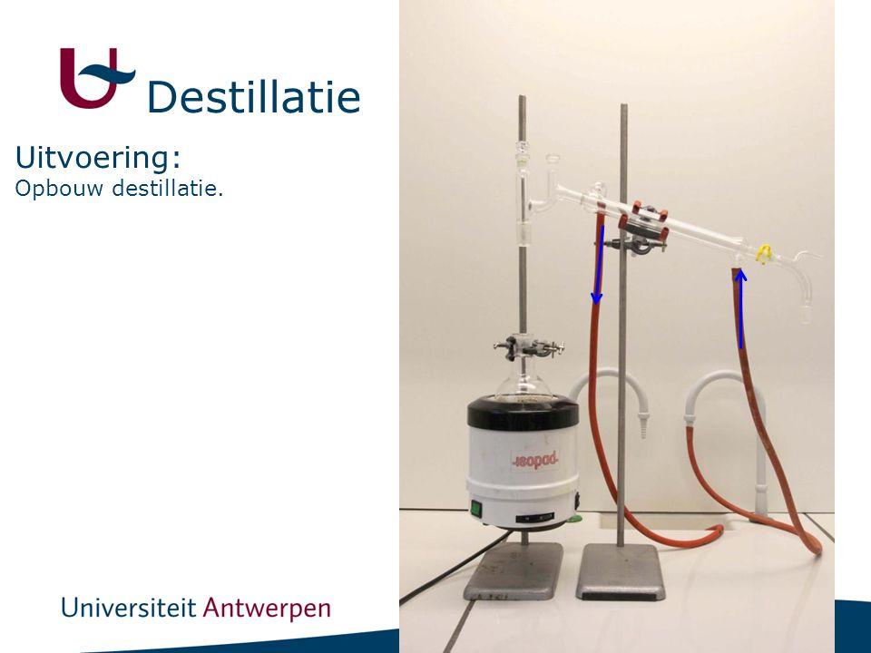 12 Opbouw destillatie. Uitvoering: Destillatie