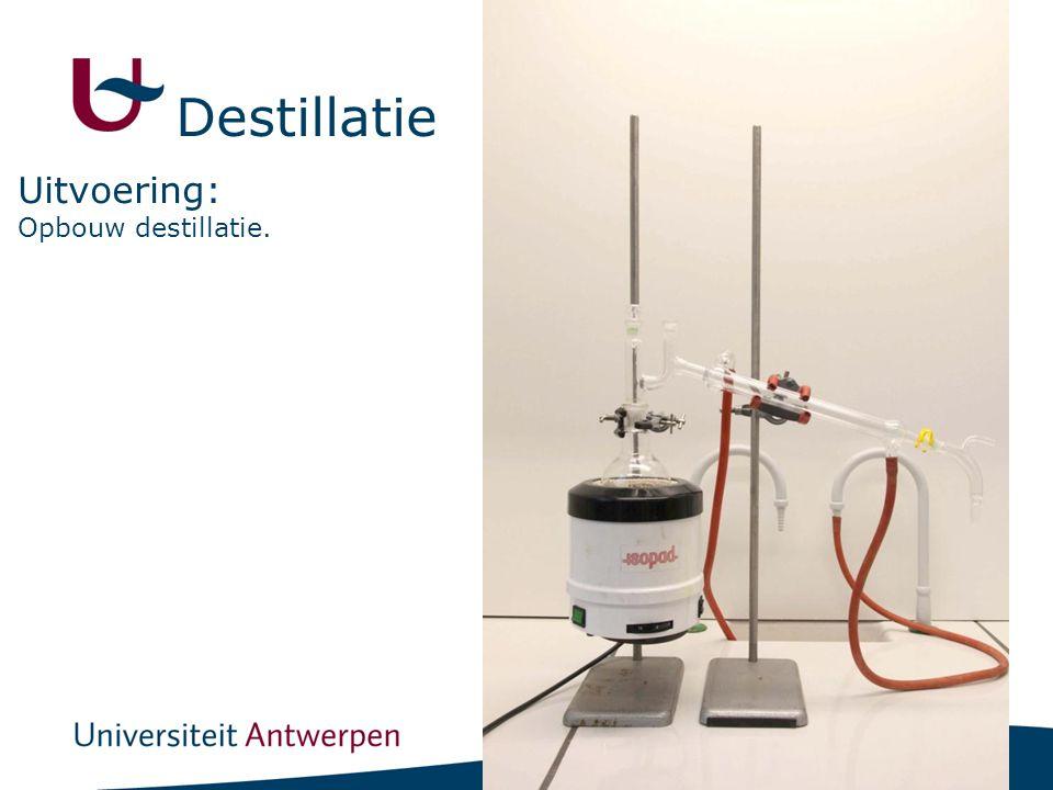 13 Opbouw destillatie. Uitvoering: Destillatie