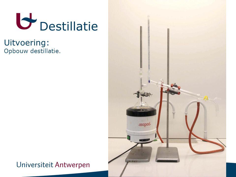 14 Opbouw destillatie. Uitvoering: Destillatie