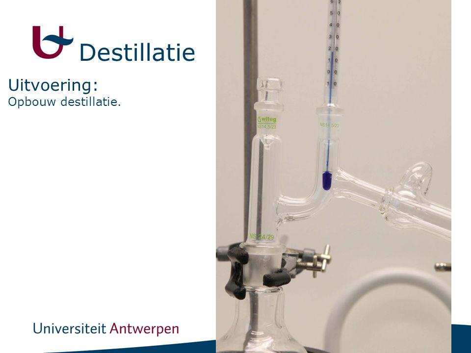 15 Opbouw destillatie. Uitvoering: Destillatie