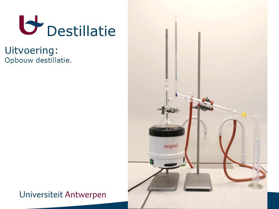 17 Destillatie Opbouw destillatie. Uitvoering:
