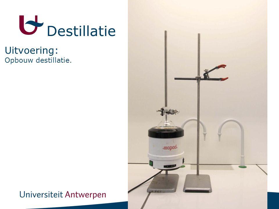 9 Opbouw destillatie. Uitvoering: Destillatie