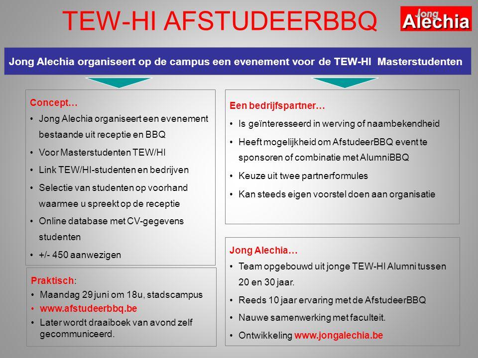 Praktisch: Maandag 29 juni om 18u, stadscampus www.afstudeerbbq.be Later wordt draaiboek van avond zelf gecommuniceerd.
