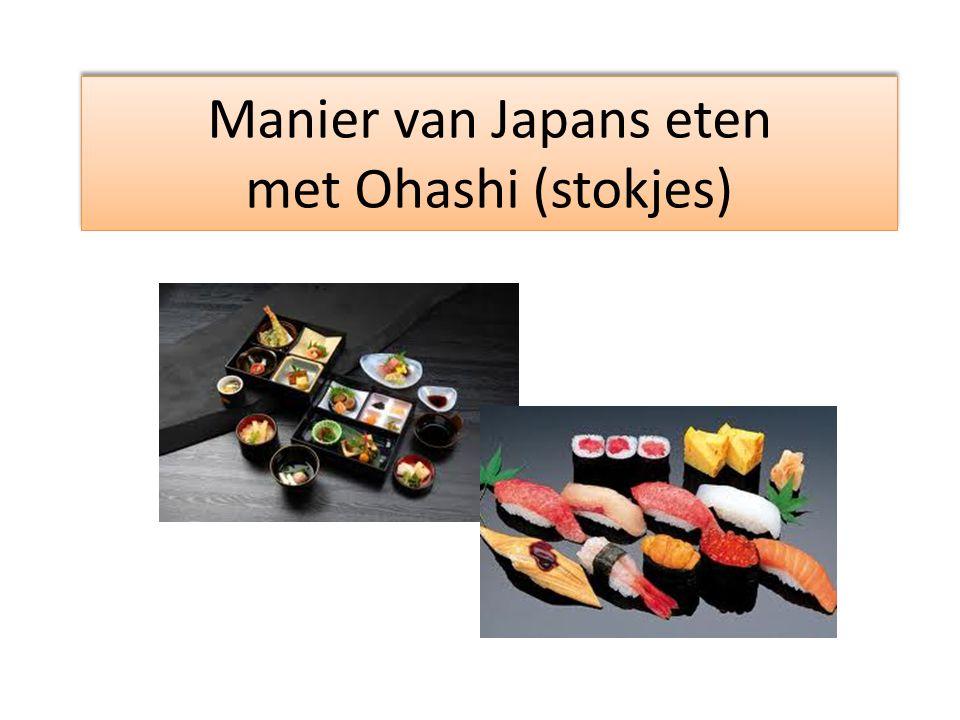 Manier van Japans eten met Ohashi (stokjes)