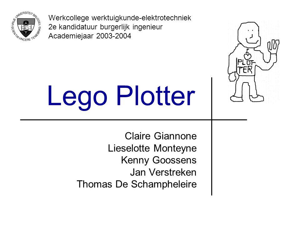 Lego Plotter Claire Giannone Lieselotte Monteyne Kenny Goossens Jan Verstreken Thomas De Schampheleire Werkcollege werktuigkunde-elektrotechniek 2e ka