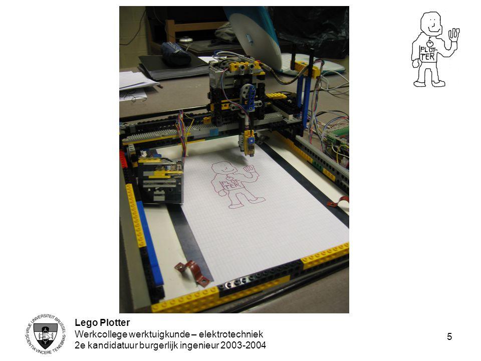 Lego Plotter Werkcollege werktuigkunde – elektrotechniek 2e kandidatuur burgerlijk ingenieur 2003-2004 5