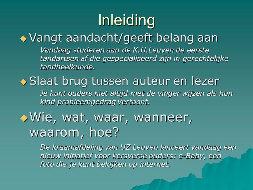 Inleiding  Vangt aandacht/geeft belang aan Vandaag studeren aan de K.U.Leuven de eerste tandartsen af die gespecialiseerd zijn in gerechtelijke tandheelkunde.