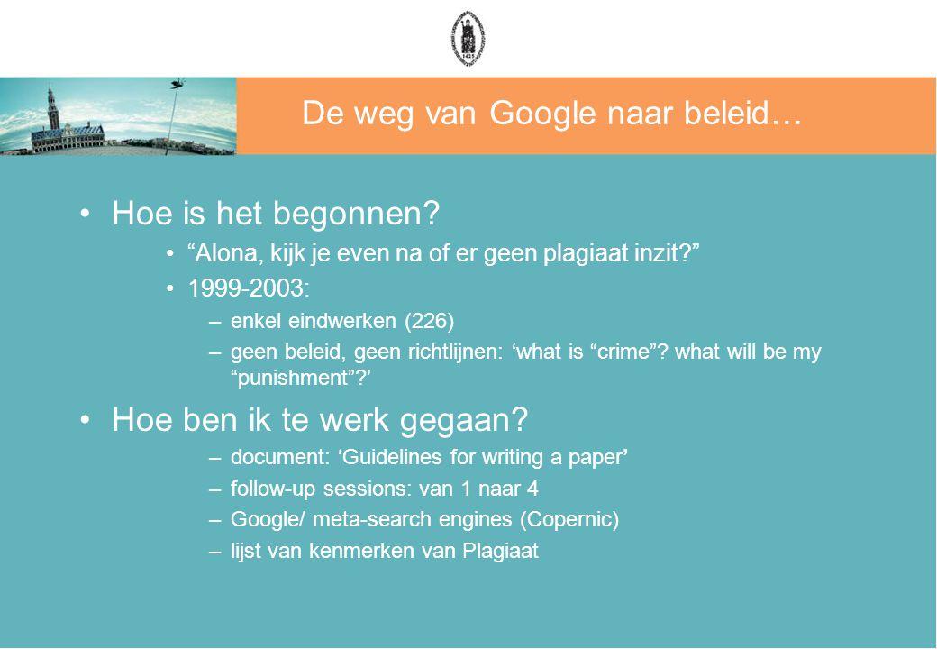 De weg van Google naar beleid… Hoe is het begonnen.