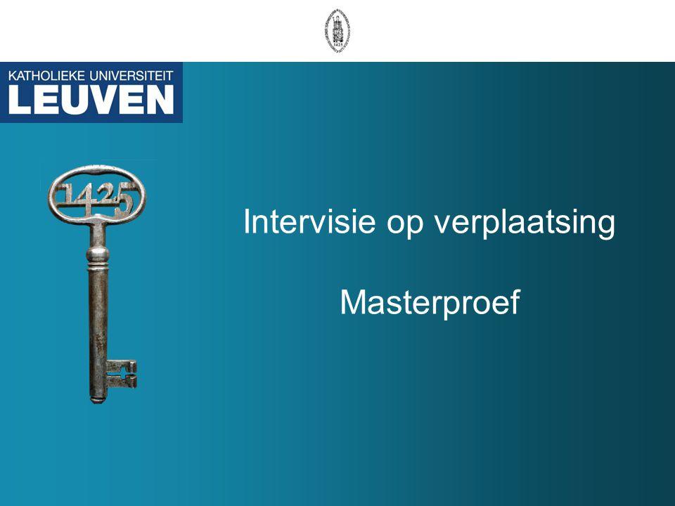 12 20/5/2010 IVOV Masterproef Acties @ FWET Poging om tot uniform beoordelingsrooster te komen Voorstel geformuleerd o.b.v.