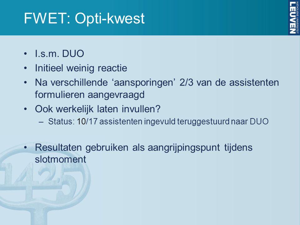FWET: Opti-kwest I.s.m.