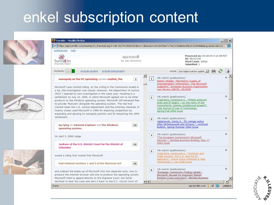 enkel subscription content