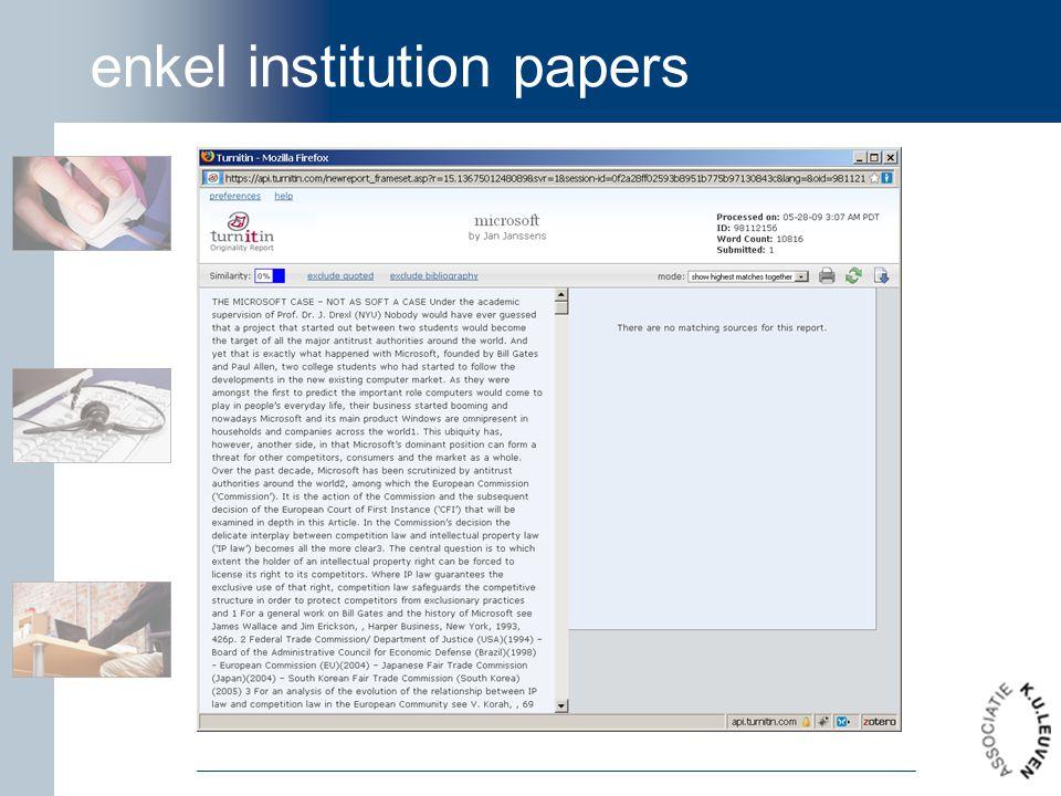 enkel institution papers