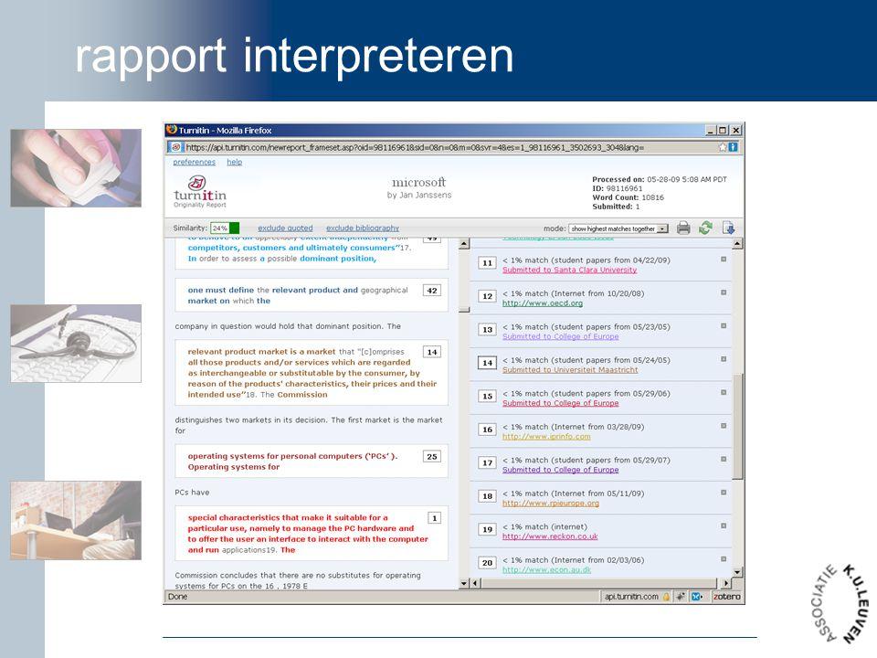 rapport interpreteren