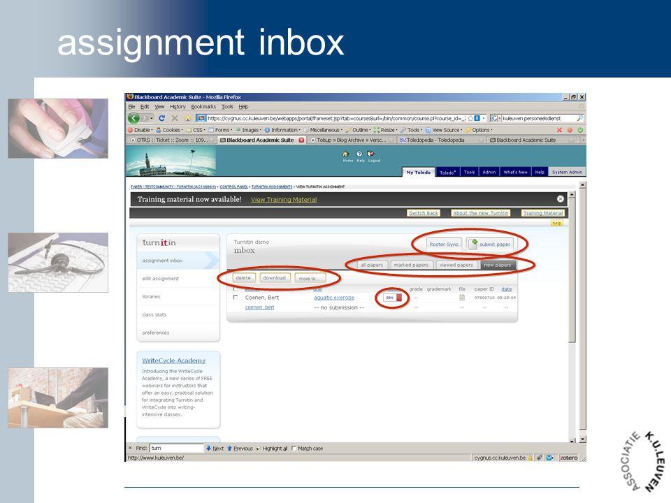 assignment inbox
