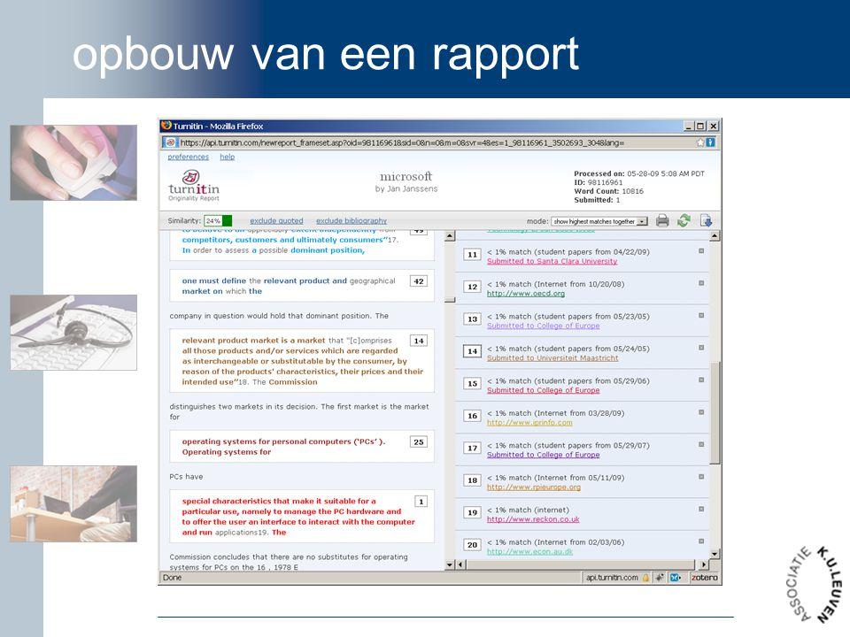 opbouw van een rapport