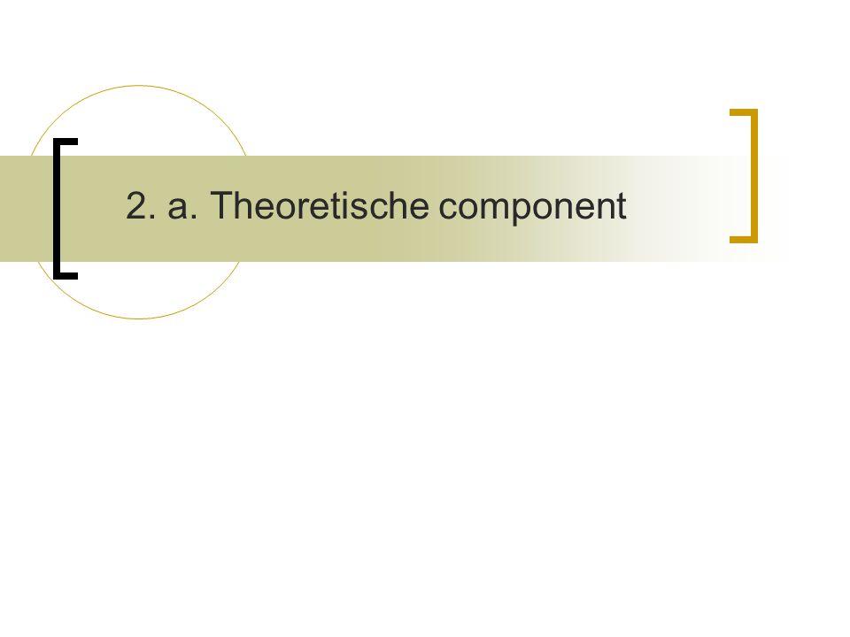 2. a. Theoretische component
